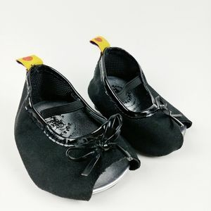 Build a Bear black Mary Jane toy shoes